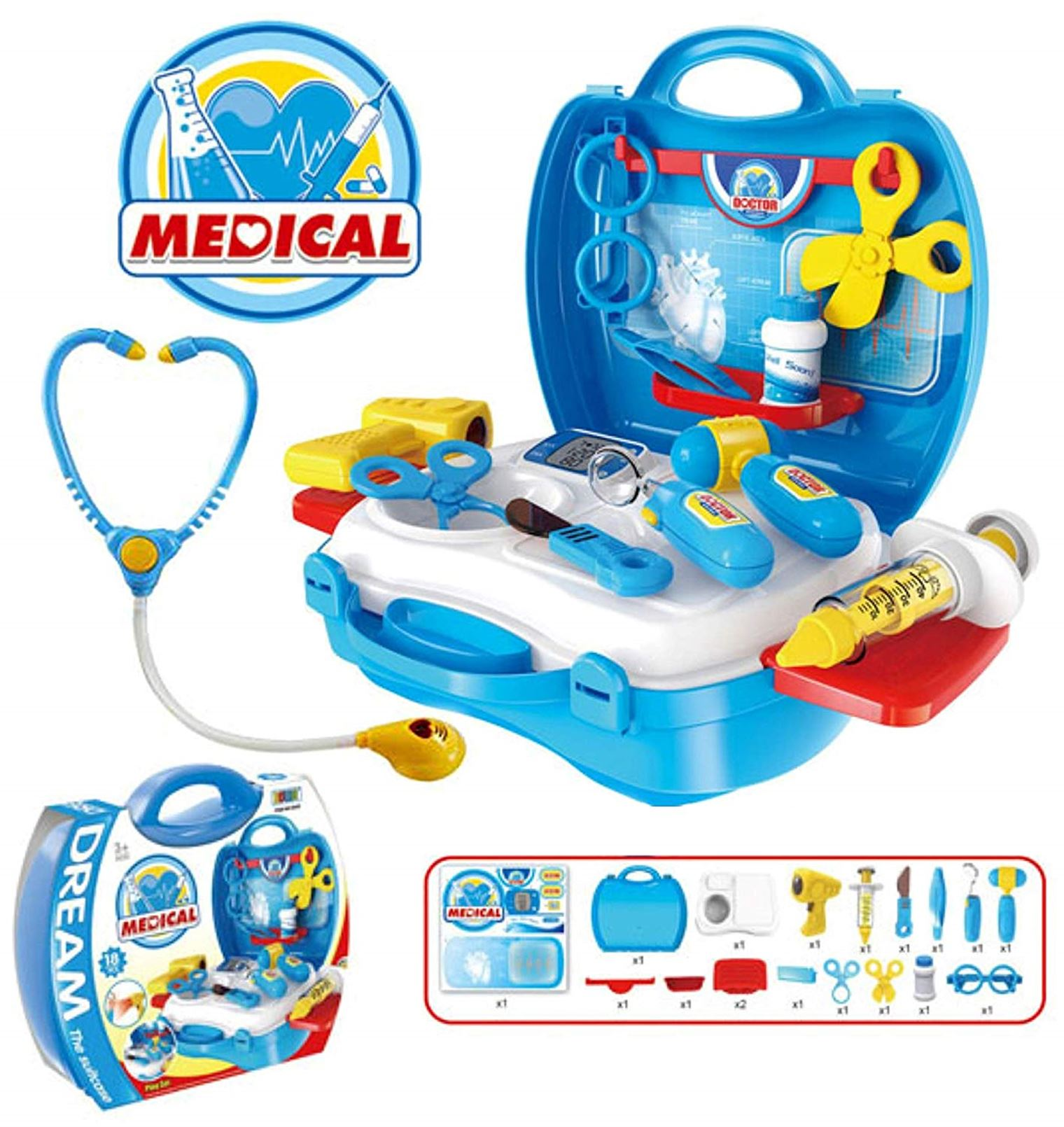 Doctor Nurse Medical Kit Dentist Role Pretend Play Developmental Toys 6Pcs